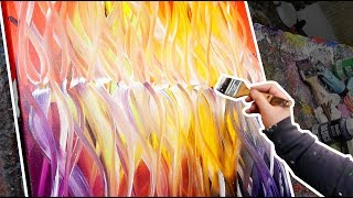 Download Creation of an abstract painting with warm colors | Collapse | John Beckley Video