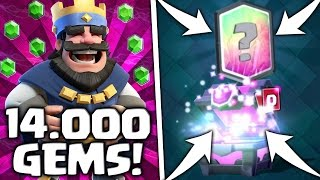 Download VIELE LEGENDARY CARDS! MAGICAL CHEST OPENING - 14.000 GEMS • CLASH ROYALE DEUTSCH Video