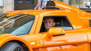 Download BEAUTIFUL 21yo BLONDE GIRL DRIVES HARD A GUMPERT APOLLO SPORT - BURNOUT and BRUTAL SOUND 2016 HQ Video