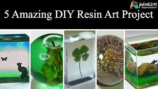 Download 5 MOST Amazing DIY Ideas from Epoxy RESIN. SIMPLE Tutorial / ART RESIN Video