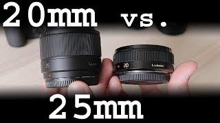 Download Panasonic 20mm f/1.7 II vs. 25mm f/1.7 review Video