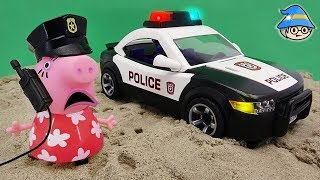 Download Peppa Pig went to the police station. Become a police officer and ride a police car. Video