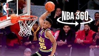 Download NBA 360 | Donovan Mitchell Jumps Over Kevin Hart, Hendrix Hart, and Jordan Mitchell Video