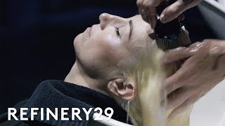 Download I Bleached My Brunette Hair Purple For The First Time   Hair Me Out   Refinery29 Video