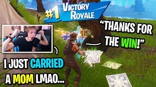 Download I carried a MOM to her first win on Fortnite... Video