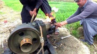 Download Punjab Village Tube well Peter Diesel Engine Agriculture in Rural Area Punjab Video
