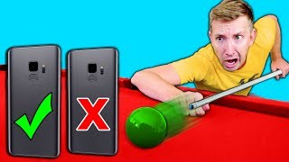 Download DO NOT Try Phone TRICK SHOTS in REAL LIFE Challenge with a Samsung Galaxy S9 Video