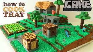 Download MINECRAFT CAKE VILLAGE How To Cook That Ann Reardon Video