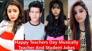 Download Happy Teachers Day Musically 2019   Teacher and Student Jokes   Manjul, Awez, Aashika etc. Video