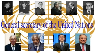 Download General secretary of the United Nations Video