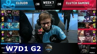 Download Cloud 9 vs Clutch Gaming | Week 7 Day 1 S8 NA LCS Summer 2018 | C9 vs CG W7D1 Video