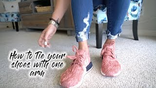 Download HOW TO TIE YOUR SHOES WITH ONE ARM | ONE ARM TUTORIALS Video