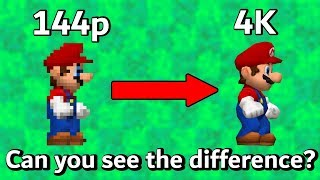 Download Increasing Resolution in New Super Mario Bros DS Video
