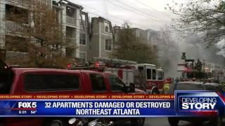 Download Fire crews battle massive Buckhead apartment fire Video