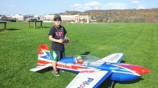 Download 10 Year Old Justin Jee - Pilot-RC 35% Extra 300 Flight - 2012-10-21 Video