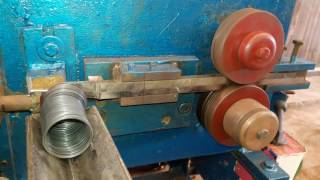 Download flat wire continues spring coiling bangle ring machine by mfd by metalmasterengg@gmail Video
