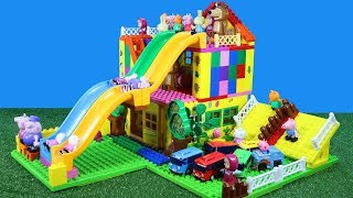 Download Peppa Pig House Construction Set With Water Slide LEGO Creations Toys for Kids #3 Video