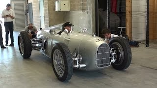 Download Auto Union Grand Prix racing car Type C, 1936 V16 Start up and Revs Video