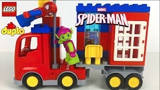 Download LEGO DUPLO MARVEL ID 10608- SPIDER TRUCK ADVENTURE SPIDERMAN & GREEN GOBLIN STOP MOTION - UNBOXING Video