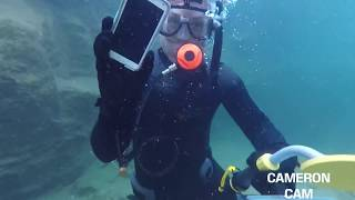 Download Underwater Metal Detecting a WATERFALL, Found a Phone (Returned!) Using Dive Portable Lungs! Video