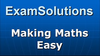 Download The identity Asin(x) + Bcos(x) = Rsin(x+a) : ExamSolutions Maths Revision Video
