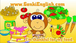 Download Thanksgiving Song for Kids: What are you thankful for? Genki English Video