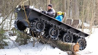 Download DIY tracked ATV $1000 cost! Hardest tests! Video