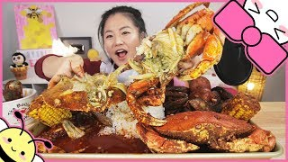 Download SPICY DUNGENESS CRAB SEAFOOD BOIL | MUKBANG Video