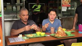 Download Cesar Millan and his son Andre enjoying prata and Milo Dinosaur Video