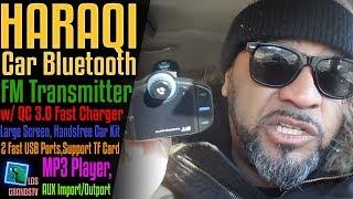 Download Haraqi Car Bluetooth FM Transmitter BT70 📻 : LGTV Review Video