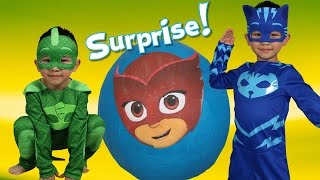 Download PJ MASKS Super Giant Toys Surprise Egg Opening Fun With Catboy Gekko Ckn Toys Video
