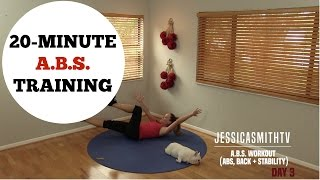 Download 20 Minute Abs, Back, Core Training Full Length Workout - No Equipment Needed Video