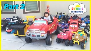 Download HUGE POWER WHEELS COLLECTIONS Ride On Cars for Kids Video