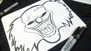 Download como desenhar um palhaço Grafite Video