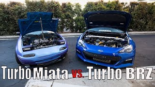 Download Turbo Miata vs. Turbo BRZ STREET RACING Video