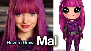 Download How to Draw Mal Easy | Disney Descendants 2 Video