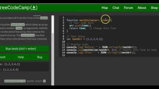 Download Stand in Line, freeCodeCamp Basic Javascript, #54 Video
