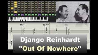 Download Django Reinhardt - Out of Nowhere - (1939) - Virtual Guitar Transcription by Gilles Rea Video
