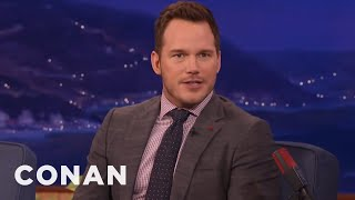 Download Chris Pratt Sends Nick Offerman And Adam Scott Photos Of His Poop - CONAN on TBS Video