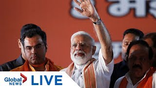 Download India's Modi react to results after BJP claims victory in general election | LIVE Video