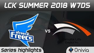 Download AFS vs HLE Highlights Game 1 LCK Summer 2018 W7D5 Afreeca Freecs vs Hanwha Life by Onivia Video
