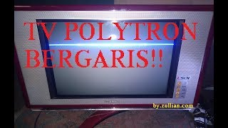 Download memperbaiki tv polytron bergaris Video