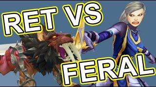 Download Feral Druid vs Retribution Paladin lvl 110 Legion Savix vs Phos Video