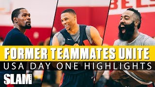 Download Kevin Durant, Russell Westbrook, & James Harden WORK IT at Team USA Camp | Day 1 SLAM Highlights Video
