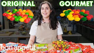 Download Pastry Chef Attempts To Make Gourmet Skittles | Gourmet Makes | Bon Appétit Video