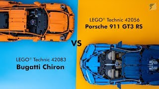 Download LEGO Technic ultimate supercar battle - 42083 Bugatti Chiron vs 42056 Porsche 911 GT3 RS Video