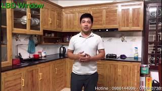 Download ✅ Báo giá tủ bếp nhôm kính màu vân gỗ , trắn sứ || bền mãi với thời gian Video