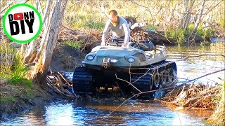 Download ARGO 8x8 Tracked Amphibious Vehicle Mudding On Beaver Dam Video