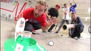 Download EPIC MINI GOLF-BASKETBALL TRICK SHOTS! Video