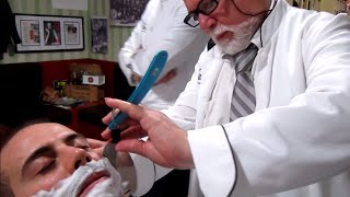 Download 💈 Old School Italian Barber - Shave with Straight Razor and hot towel - ASMR intentional sounds Video